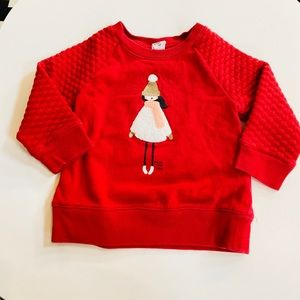 """🎈5 for $30🎈Baby Gap red """"warm and cozy"""" sweater"""